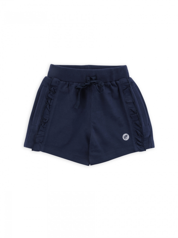 Girls Solid Cotton Shorts
