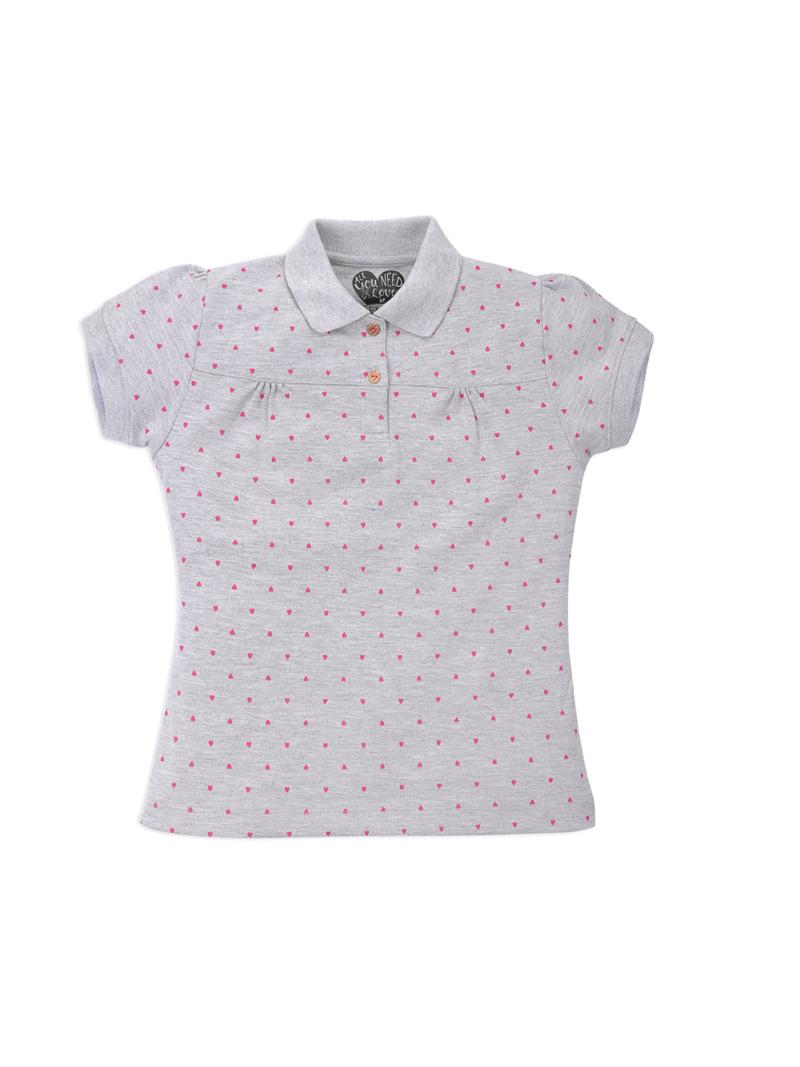 Kids Polo Printed T-shirt